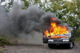 car battery explosion