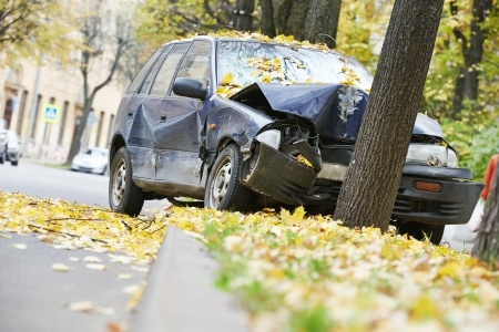 Single-car crash