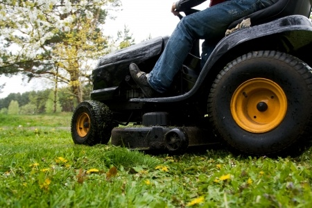riding mower accident