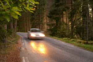 Fall driving car accident