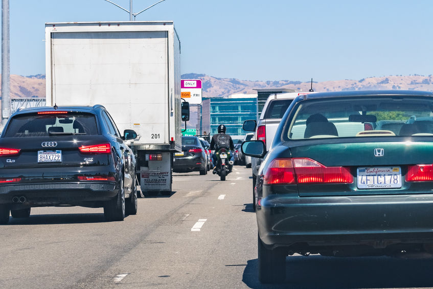 motorcycle lane splitting accident