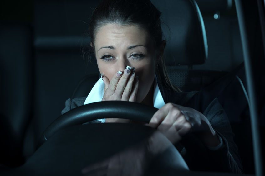 night time driving accident