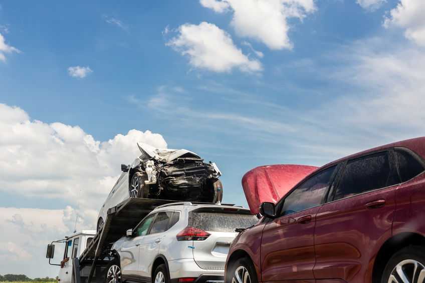 Multi-car accident claims